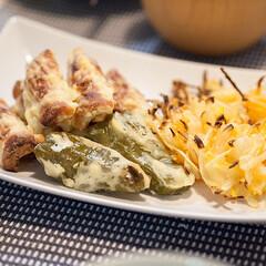 わたしのごはん/ノンフライ/料理/おうちごはん部/天ぷら 油で挙げないノンフライの天ぷら。 オーブ…