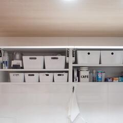 キッチン/キッチン収納/収納/イケア/吊り戸棚 イケアで買ったわが家のキッチン吊り戸棚。…