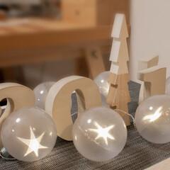 デコレーション/インテリア/冬のインテリア/LEDライト/クリスマス/冬の1枚/... わが家の冬のデコレーション。 クリスマス…