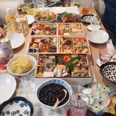 お正月/おせち/冬の1枚/ホームパーティ/冬 冬の1枚。我が家でお正月の家族の集まりを…