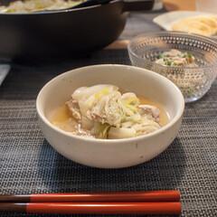 ミルフィーユ鍋/白菜/おうちごはん/鍋/ごはん 白菜たっぷりミルフィーユ鍋。白菜は2人前…
