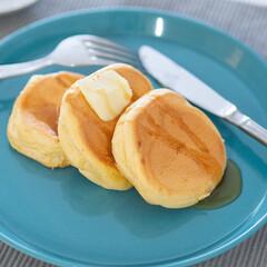 HASAMI ハサミ プレート あすつく対応 | HASAMI(汁椀)を使ったクチコミ「ある日のスフレパンケーキ。ホットケーキミ…」