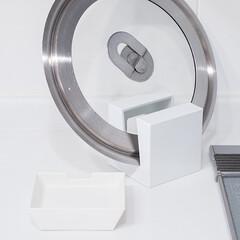 雑貨だいすき/鍋蓋スタンド/キッチン雑貨/便利グッズ 1つ前の写真にアップした鍋蓋スタンド。こ…