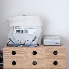 雑貨だいすき/無印/雑貨/収納/小物収納 デスクの上の小物コーナー。 無印の小物収…