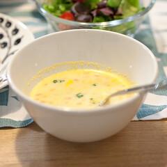 わたしのごはん/スープ/おうちごはん部/料理/レシピ オイシックスのキットの副菜で作ったかぼち…