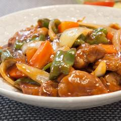 わたしのごはん/酢豚/おうちごはん部/中華/料理 酢豚です。 クックパッドのレシピを参考に…
