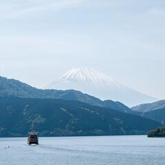 箱根/旅行/旅/芦ノ湖/富士山 箱根へ旅行した時の1枚。 芦ノ湖の遊覧船…