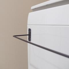 100均/セリア/シンプル/アイアンバー/洗濯機周り 買って良かった100均アイテム。セリアの…