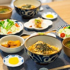 おうちごはん部/料理/献立/親子丼/夕食 ある日の晩ごはん。 ・親子丼 ・冷奴 ・…