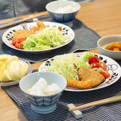 おうちごはん部/料理/献立/夕食 昨日の晩ごはん ・アジフライとエビフライ…