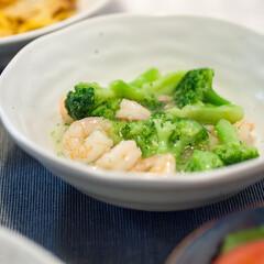 わたしのごはん/おうちごはん部/料理/簡単レシピ/ブロッコリー/エビ ある日の副菜、エビとブロッコリーの中華あ…