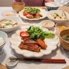 おうちごはん/晩ごはん/献立/鮭/手作りごはん/和食 ある日の食卓。 メインはふるさと納税で2…