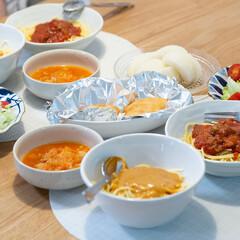 イッタラ プレート クリア 17cm カステヘルミ 6411920009457   イッタラ(皿)を使ったクチコミ「ある日の晩ごはん。 忙しくて夕飯を作る時…」