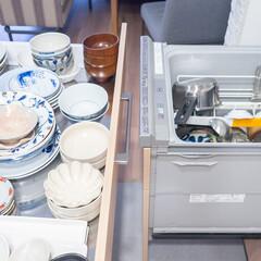 カネコ小兵製陶所 リンカ 12cmボウル(その他食器、カトラリー)を使ったクチコミ「我が家のお皿はキッチン背面のカウンターに…」(1枚目)