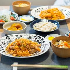 おうちごはん部/料理/献立/夕食 ある日の晩ごはん ・チキンライス ・野菜…