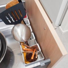 キッチンツール/キッチン/キッチン収納/無印良品/無印 キッチンツール収納には無印のファイルボッ…(1枚目)