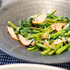 おうちごはん部/料理/献立/家庭料理/副菜 ある日の副菜。空心菜の炒め物。 八百屋さ…