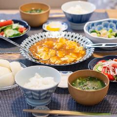 献立/晩ごはん/おうちごはん部/料理/家庭料理 ある日の晩ごはん。 ・麻婆豆腐 ・ブロッ…