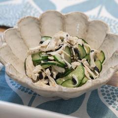 おうちごはん/副菜/簡単レシピ/きゅうり/ササミ/#わたしのごはん/... あと1品!の時に簡単に作れる副菜、きゅう…