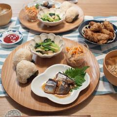 和食器/豆皿/小鉢/夕食/ワンプレート/食器 ウッドトレーと小皿を使ってワンプレートに…