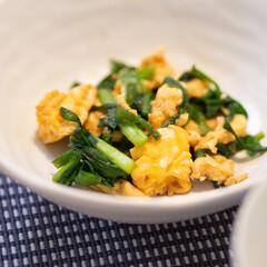 わたしのごはん/おうちごはん部/ニラ/献立/卵 ある日のおかず。簡単ニラ玉。 鶏がらスー…