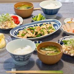 おうちごはん部/料理/献立/夕食 ある日の晩ごはん ・鶏胸肉の青椒肉絲 ・…