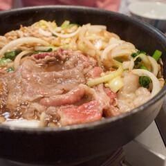 すき焼き/鍋料理/冬の一枚/おうちごはん/冬 またまた鍋料理。この日はスキヤキ! ふる…