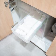 掃除/大掃除/生活の知恵/収納/キッチン/掃除グッズ キッチンのすぐ手に取れる場所に収納してる…