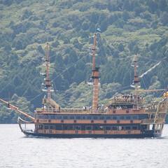 箱根/芦ノ湖/海賊船/旅行/旅/風景/... 箱根旅行で芦ノ湖へ。 見た目が豪華でテン…