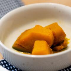 おうちごはん部/料理/献立/副菜/レンチン かぼちゃのレンチン煮物。 お砂糖・みりん…