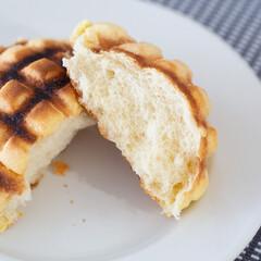 メロンパン/菓子パン/おやつ/おうち時間/バルミューダー バルミューダのトースターでメロンパンを焼…