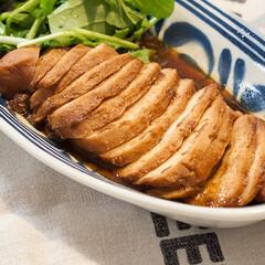 わたしのごはん/簡単レシピ/鶏胸肉/チャーシュー 鶏胸肉の北京ダック風チャーシューを作りま…