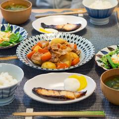 おうちごはん部/料理/献立/夕食/家庭料理 ある日の晩ごはん ・白身魚の西京漬 ・無…