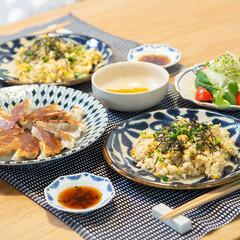 おうちごはん部/料理/献立/夕食 ある日の晩ごはん ・和風しらすチャーハン…