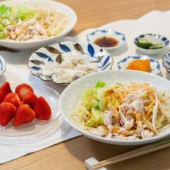 おうちごはん部/料理/献立/夕食 ある日の晩ごはん ・中華まぜそば ・水餃…