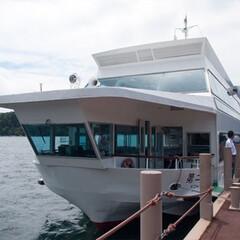 箱根/遊覧船/旅/旅行/芦ノ湖 箱根の芦ノ湖で乗った遊覧船。 海賊船の方…