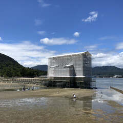 旅行/宮島/大鳥居/厳島神社/広島/おでかけ/... 現在の宮島・厳島神社の大鳥居はこんな感じ…