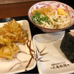 リラックマ/丸亀製麺/うどん/グルメ/フード/無印良品/... 久々の丸亀製麺でまんぷくセット! リラッ…