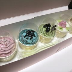 カップケーキ/ケーキ/フォロー大歓迎/グルメ/フード/スイーツ/... 謎のカップケーキ! どこかの駅で買ってく…