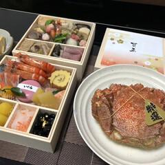 ショップチャンネル/毛ガニ/おせち/あけおめ/フォロー大歓迎/年末年始/... 元旦の夕食! 豪華にショップチャンネルで…
