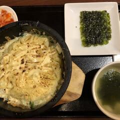 ランチ/韓国料理/ビビンバ/フォロー大歓迎/わたしのごはん/グルメ/... ランチで食べたチーズビビンバ! チーズが…