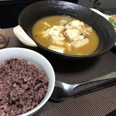 古代米/純豆腐/グルメ/フード/おうちごはん 純豆腐(スンドゥブ)&古代米! 具はあり…