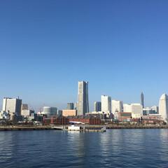 みなとみらい/大さん橋/横浜/おでかけ 横浜の大さん橋から撮影! みなとみらいの…