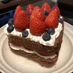 ケーキ/バレンタインデー/LIMIAごはんクラブ/フォロー大歓迎/わたしのごはん/グルメ/... 今日はバレンタインデーでしたー 職場でも…