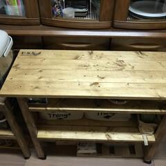 DIY/ストッカー/ワゴン/テーブル/ステンシル/作業台/... キッチン作業台