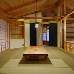 茶の間/木の家/平屋/堀コタツ 土台から行灯まで「大工棟梁と造る家」 堀…