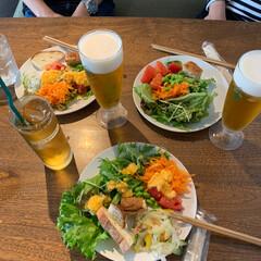 親友/昼間からビール/イタリア料理/ランチ/大人女子 地元の友達が近くまで集まりに来てくれまし…