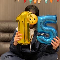 家族/誕生日ケーキ/誕生日飾り/誕生日 ❤️❤️11月23日は娘の15歳誕生日🎂…(2枚目)