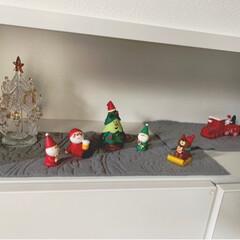 可愛い/ららぽーと/クリスマス/雑貨/100均/ダイソー/... カウンター下に飾りました🙆♀️  船橋…