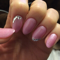ネイル/ピンクパール/女子力 大人女子ネイル💅ピンクは手が綺麗に見える…